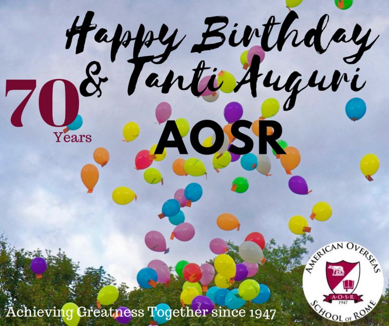 AOSR Celebrates Our 70th Year Anniversary!