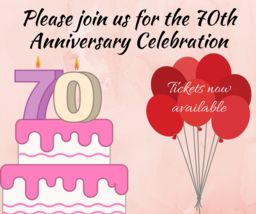 Tickets now available: 70th Anniversary Celebration!