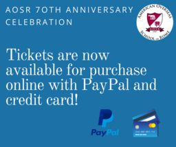 AOSR 70th Anniversary Celebration: Online PayPal and credit card payments now available