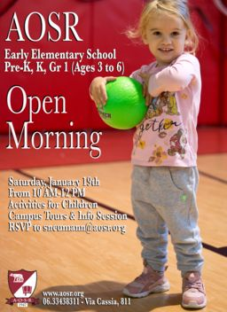 Early Elementary School Open Morning: January 19th