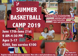 Summer Basketball Camp and Summer Program 2019 Registration Open!